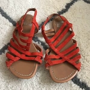 Joe's Jeans Red Suede Sandals